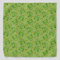 Frog Cartoon Pattern Bandana