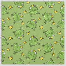 Frog Cartoon Pattern Fabric