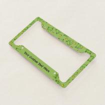 Frog Cartoon Pattern License Plate Frame