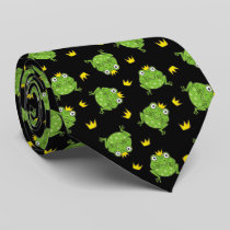 Frog Cartoon Pattern Neck Tie