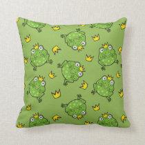 Frog Cartoon Pattern Throw Pillow