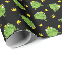 Frog Cartoon Pattern Wrapping Paper