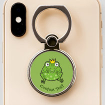 Frog Cartoon Phone Ring Stand