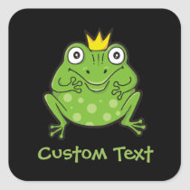 Frog Cartoon Square Sticker