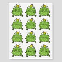 Frog Cartoon Temporary Tattoos