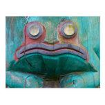Frog Carving Postcard