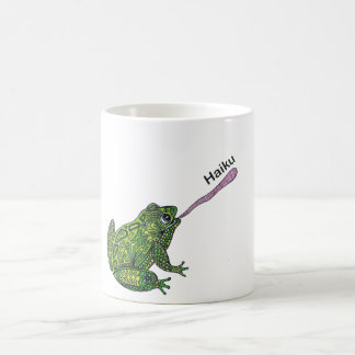 Frog catches the Haiku bug! Coffee Mug