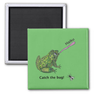 Frog catches the haiku bug! magnet