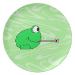Frog Catching a Fly. Plate