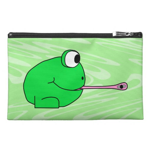Frog Catching a Fly. Travel Accessories Bag