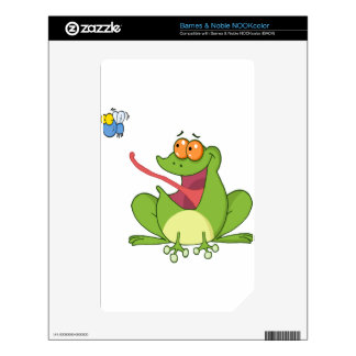 Frog Catching Fly NOOK Color Skins