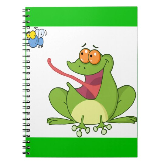 Frog Catching Fly Spiral Notebook