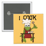 Frog Chef I Cook Tshirts and Gifts Button