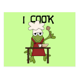 Frog Chef I Cook Tshirts and Gifts Postcard