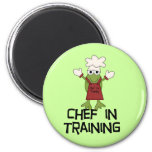 Frog Chef in Training Tshirts and Gifts 2 Inch Round Magnet