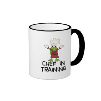 Frog Chef in Training Tshirts and Gifts Ringer Coffee Mug