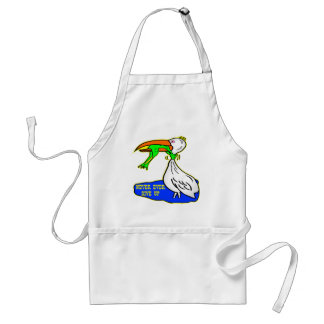 Frog Choking Bird Never Ever Give Up Adult Apron