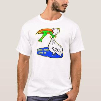 Frog Choking Bird Never Ever Give Up T-Shirt