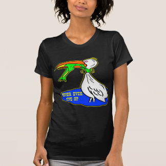 Frog Choking Bird Never Ever Give Up T-Shirt