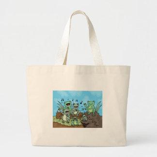 Frog Chorus Jumbo Tote Bag