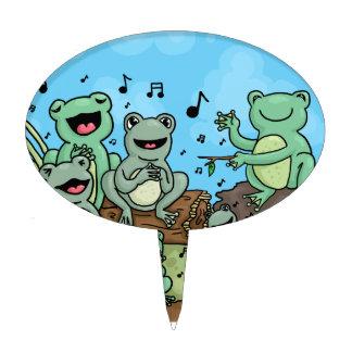 Frog Chorus Cake Topper