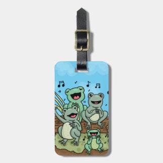 Frog Chorus Luggage Tag