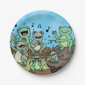 Frog Chorus Paper Plate