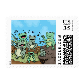 Frog Chorus Postage Stamp