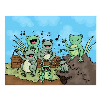 Frog Chorus Postcard