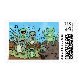 Frog Chorus Stamps