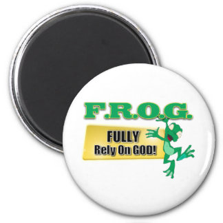 FROG CHRISTIAN ACRONYM FULLY RELY ON GOD MAGNET
