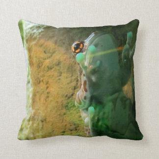 Frog Climbing Glass Throw Pillow