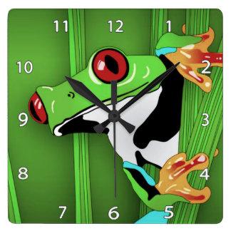 Frog Clock Wallclock
