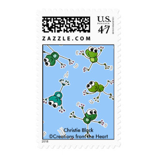 Frog Collage Postage