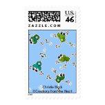 Frog Collage Postage Stamp