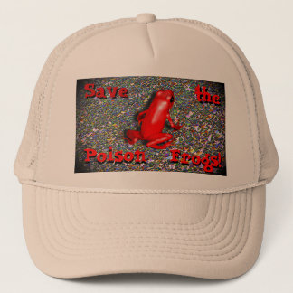 Frog conservation Save the Frogs Hat! Trucker Hat