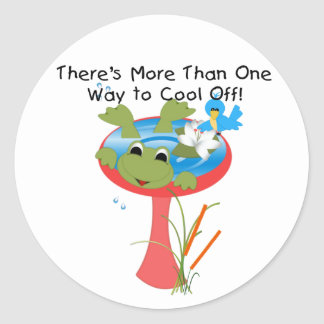 Frog Cool Off Sticker
