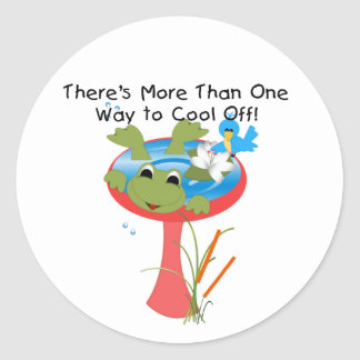 Frog Cool Off Round Stickers