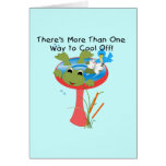 Frog Cool Off T-shirts and Gifts Greeting Card