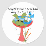 Frog Cool Off T-shirts and Gifts Round Sticker