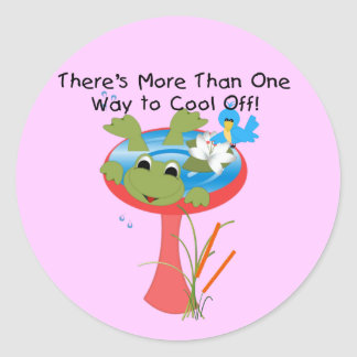 Frog Cool Off T-shirts and Gifts Stickers