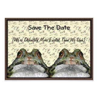 Frog Couple: Cute, Funny, Save the Date: Art Card