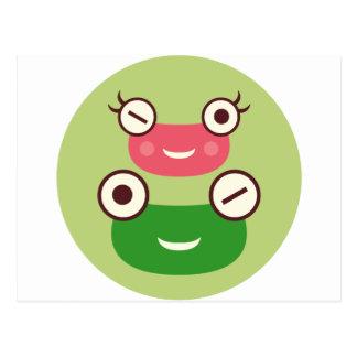 """""""Frog Couple"""" Postcard"""