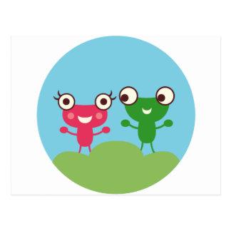 Frog Couple Postcard