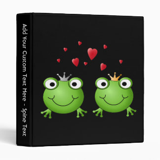 Frog Couple with hearts. Binder