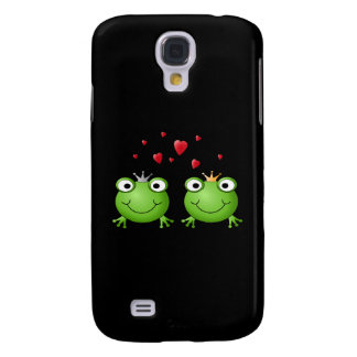 Frog Couple with hearts. Galaxy S4 Case