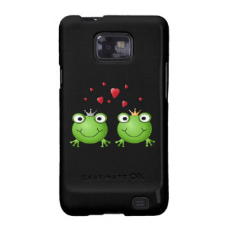 Frog Couple with hearts. Samsung Galaxy S2 Cases