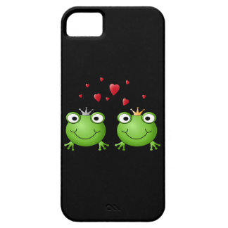 Frog Couple with hearts. iPhone 5 Case