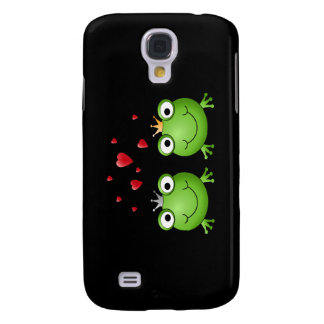 Frog Couple with hearts. Samsung Galaxy S4 Covers