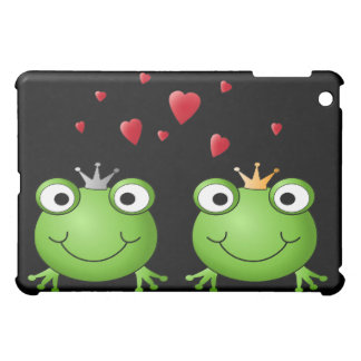 Frog Couple with hearts. Cover For The iPad Mini